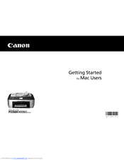 Canon PIXMA MX860 series Getting Started