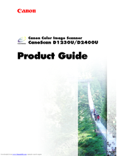 Canon CanoScan D1230U Product Manual