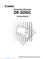 Canon 0433B002 Startup Manual
