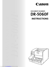 Canon 5060F - Document Scanner Instructions Manual