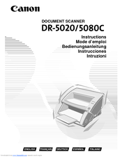 Canon DR-5080C Instructions Manual