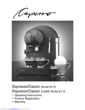 capresso espresso classic 114 operating instructions manual pdf rh manualslib com
