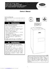 Carrier Infinity Ics 58mvc Manuals