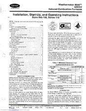 Carrier Weathermaker 8000 58wav Manuals