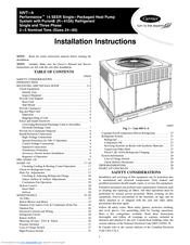 Carrier Comfort 50vt A Manuals