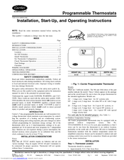 CARRIER THERMOSTAT INSTALLATION, START-UP, AND OPERATING