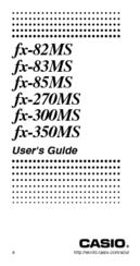 Casio calculators fx-300ms owner's manual download free.