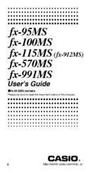 casio fx 100ms manuals rh manualslib com casio scientific calculator fx-100ms user manual Scientific Calculator Casio FX 100