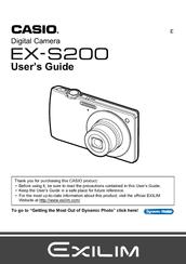 casio exilim ex s200 user manual pdf download rh manualslib com Casio Calculator Watch Manual Casio Calculator Instruction Manual