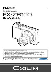 casio exilim ex zr100 user manual pdf download rh manualslib com Digital Cameras Casio Instruction Manual Casio Watch Instruction Manual