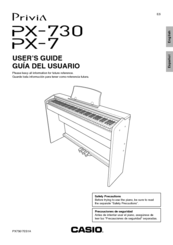 casio privia px 7 manuals rh manualslib com Casio Privia Px- 150 Casio Privia PX- 350