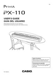 casio privia px 110 user manual pdf download rh manualslib com Casio Stand Privia PX 120 Casio Privia Keyboard PX-120
