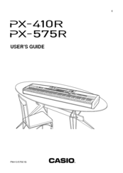 Casio px-575r manuals.