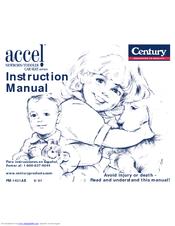 century accel se 5 point 45100 manuals rh manualslib com century next step car seat manual Dorel Car Seat Manual