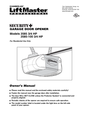 Chamberlain Liftmaster 3585 Manuals
