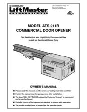 Chamberlain liftmaster professional ats 211r manuals - Chamberlain liftmaster professional garage door opener ...