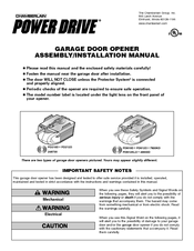 Chamberlain POWER DRIVE PD210D Assembly & Installation Manual