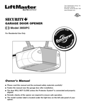 liftmaster 41db002 2 manuals