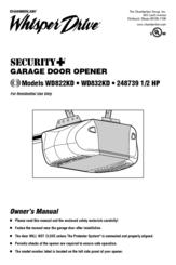 Chamberlain Whisper Drive Security 248739 Manuals