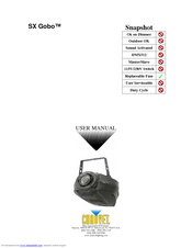 chauvet sx gobo manuals rh manualslib com