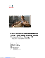 Cisco 7937G - Unified IP Conference Station VoIP Phone Manual