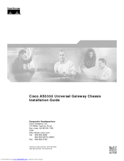 Cisco AS5350 - Universal Access Server Installation Manual