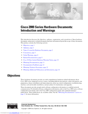 Cisco 2800 Series Introduction Manual
