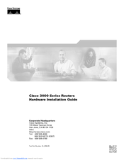 Cisco 3600 Series Hardware Installation Manual