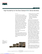 Cisco 6503 - Catalyst Firewall Security Sys White Paper