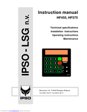ipso hf575 manuals rh manualslib com ipso cw10 user manual ipso hc 60 user manual