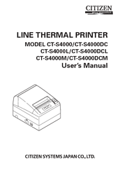 CITIZEN CT-S4000DCL USER MANUAL Pdf Download