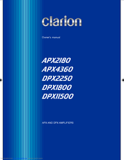 Clarion APX4360 Owner's Manual
