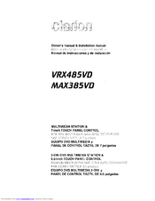 Clarion Vrx485vd Owners Installation Manual