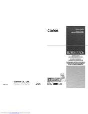 clarion rdx655dz owner s manual pdf download rh manualslib com