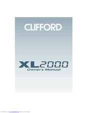 Clifford 2000 Owner's Manual