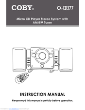 Coby COBY CX CD377 Instruction Manual