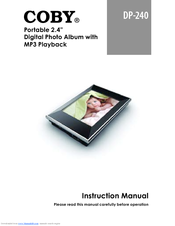 coby dp240 digital photo frame manuals rh manualslib com User Manual Instruction Manual Example