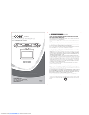 coby ktfdvd7093 lcd tv with dvd cd player manuals rh manualslib com AM FM Portable Radios Coby AM FM Clock Radio