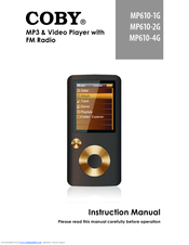 coby mp610 4g blu manuals rh manualslib com coby mp3 instruction manual for mp601-2g Coby 4GB MP3