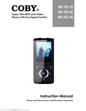 coby mp705 4g mp 705 4 gb manuals rh manualslib com