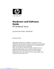 HP Pavilion zd8000 - Notebook PC Hardware And Software Manual