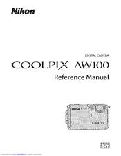nikon coolpix aw100 reference manual pdf download rh manualslib com nikon coolpix aw100 user guide Nikon AW100 Filters
