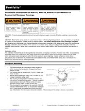 Cooper Lighting Portfolio Md6xt6 Manuals