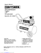 Craftsman 16639 - 1 HP 7 Gal. Portable Air Compressor Owner's Manual