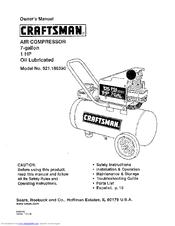 craftsman 16639 1 hp 7 gal portable air compressor manuals rh manualslib com craftsman air compressor manual 915310 craftsman air compressor manual model #16953