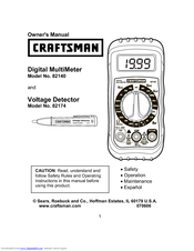craftsman digital multimeter manual