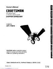 Craftsman 247 775870 Owner S Manual Pdf