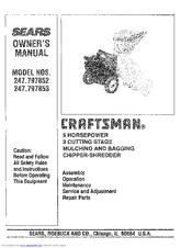 Craftsman 247 797852 Owner S Manual Pdf