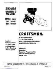 Craftsman 247 799890 Owner S Manual Pdf