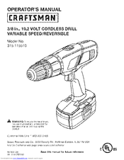 Craftsman 11551 Operator's Manual